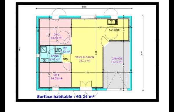 plan de maison plain pied et maison tage. Black Bedroom Furniture Sets. Home Design Ideas