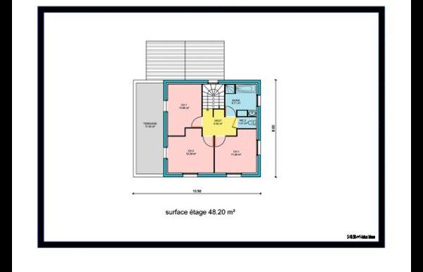 Plan de maison plain pied et maison tage for Photos de chambres