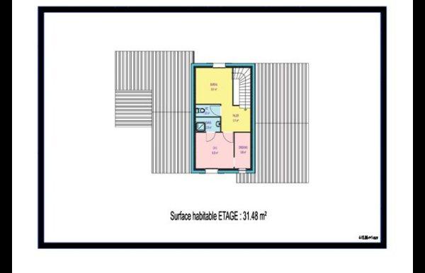 maison à étage 3 chambres, Mezzanine,