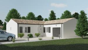 Exemple modèle de maison individuelle construite à Chauray