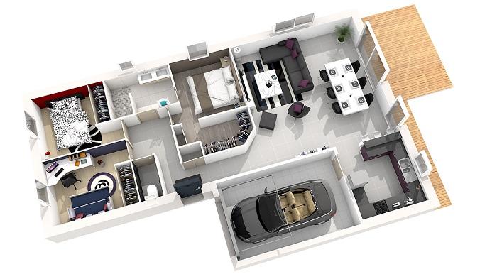 Plan 3D construction maison
