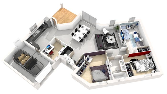 Construire à Niort, plan maison M