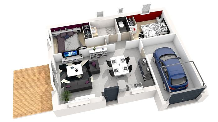 Plan maison XS pas cher